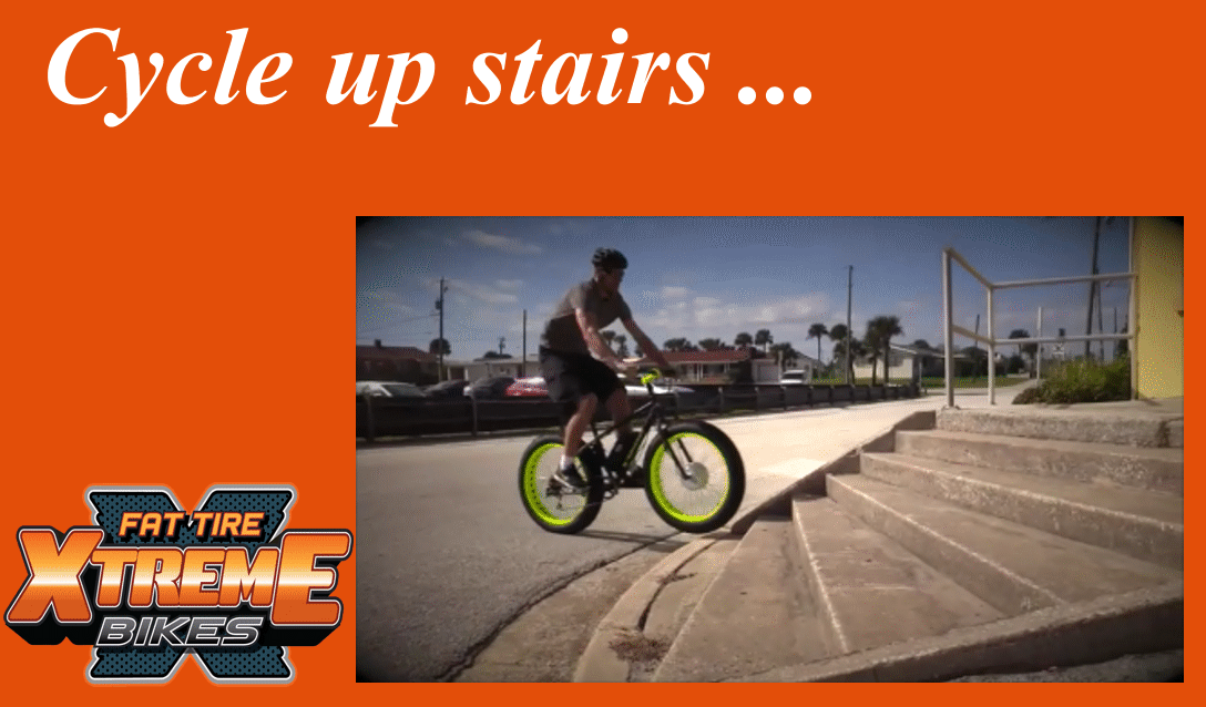 Xtreme Fat Tire E Bike Can Climb Stairs